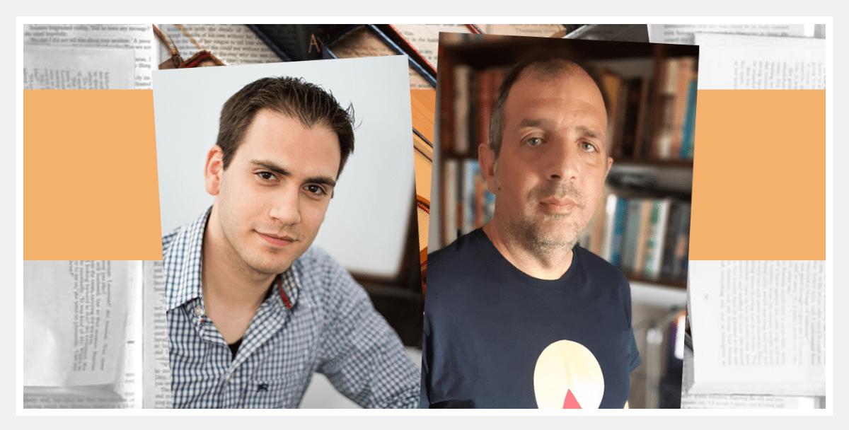 Οι ιδρυτές της πλατφόρμας Metabook Δημήτρης Σαββόπουλος (αριστερά) και Γιάννος Κατσιριντάκης. |CreativeProtagon/Metabook